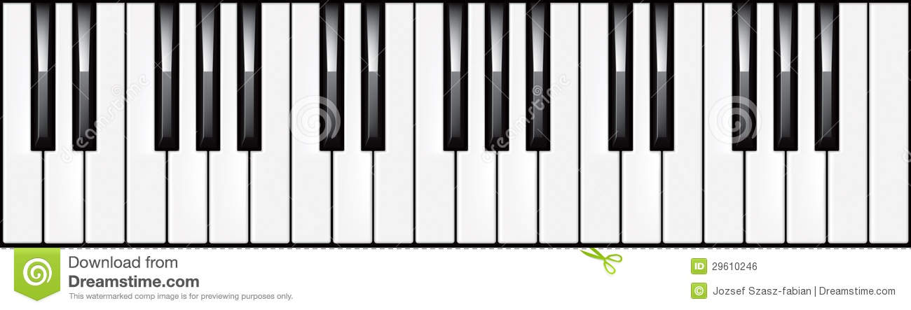 3 Octave Piano Keyboard Illustration Royalty Free Stock
