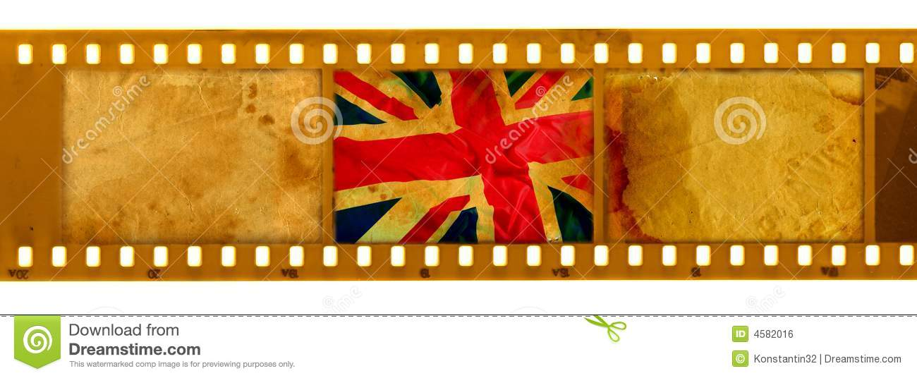 3 Oldies 35mm Frame With Old UK Flag Stock Illustration ...