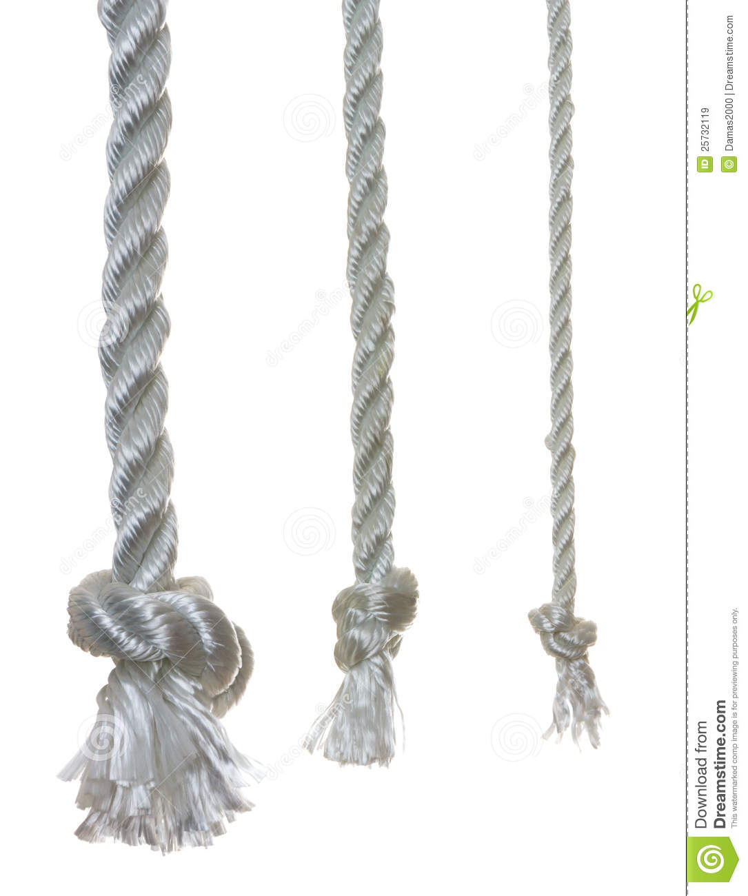3 otton ropes with knots