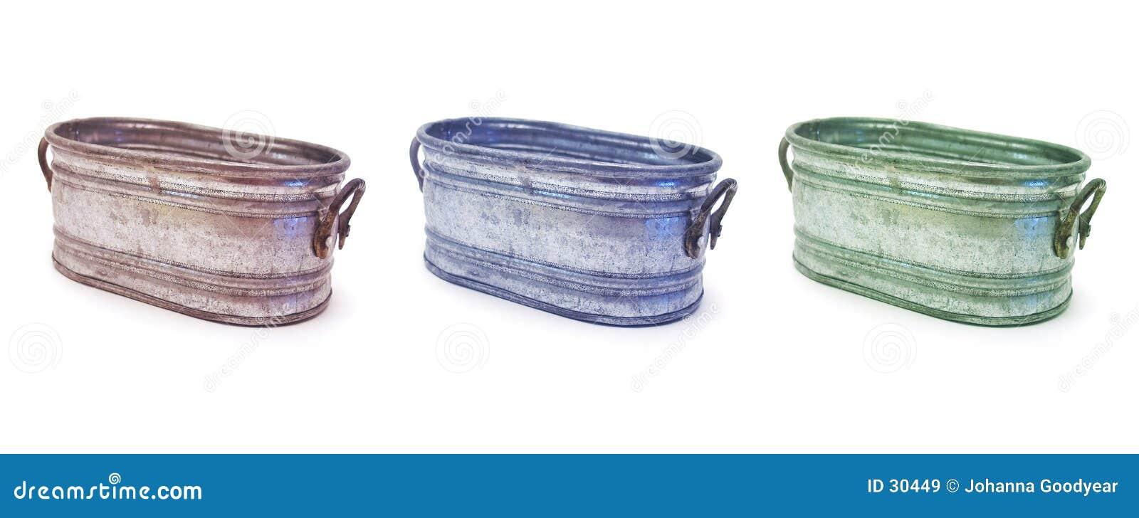 3 pails