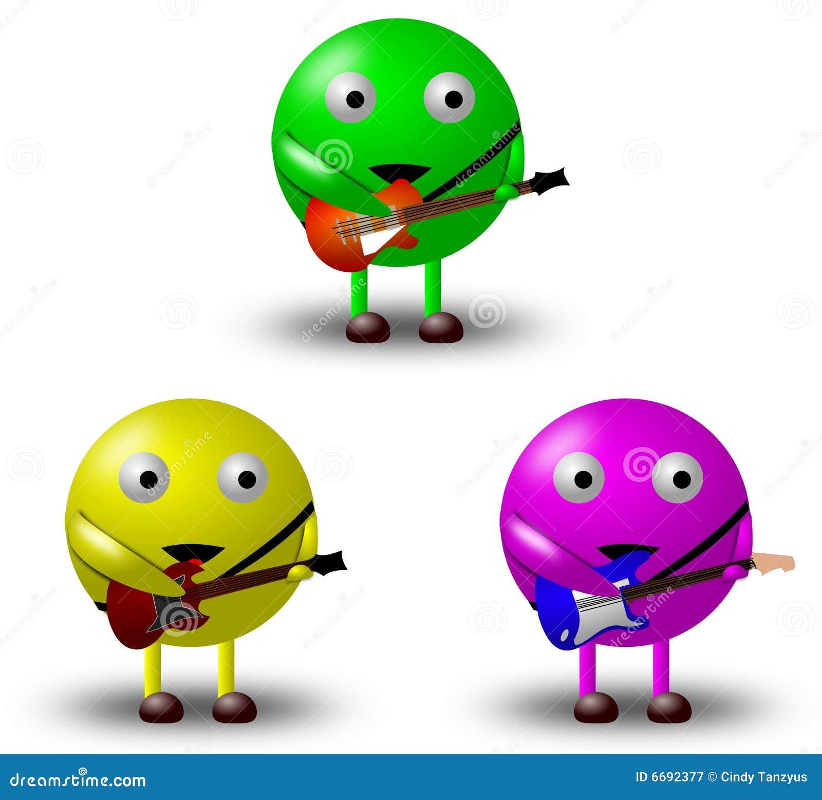 Personaggi dei cartoni animati con le chitarre