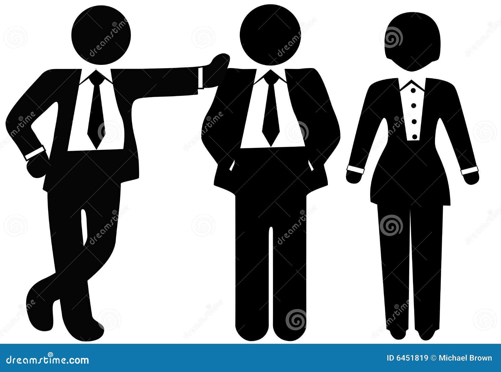 3 przedsiębiorcy garnitur drużyny