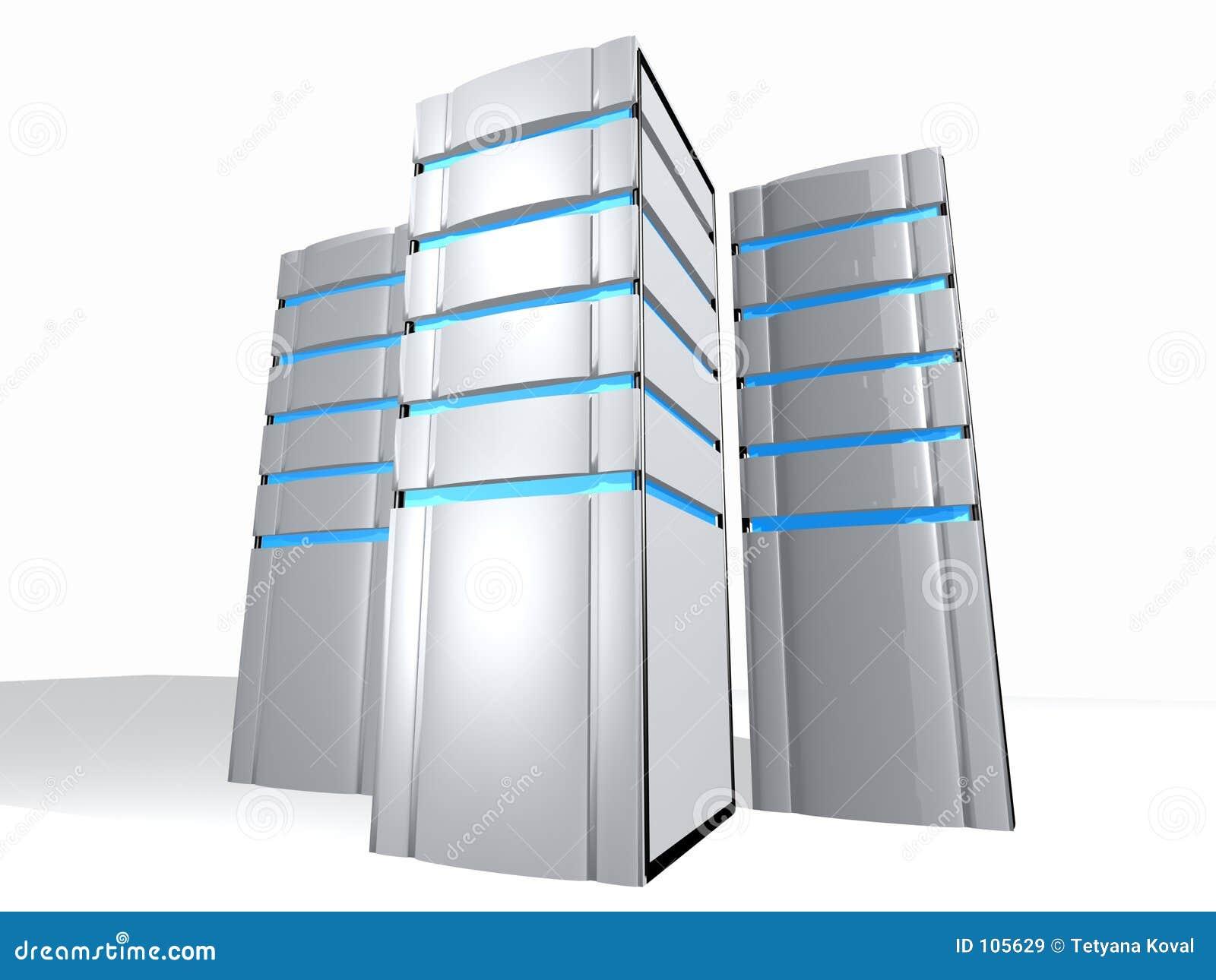 3 serwerów