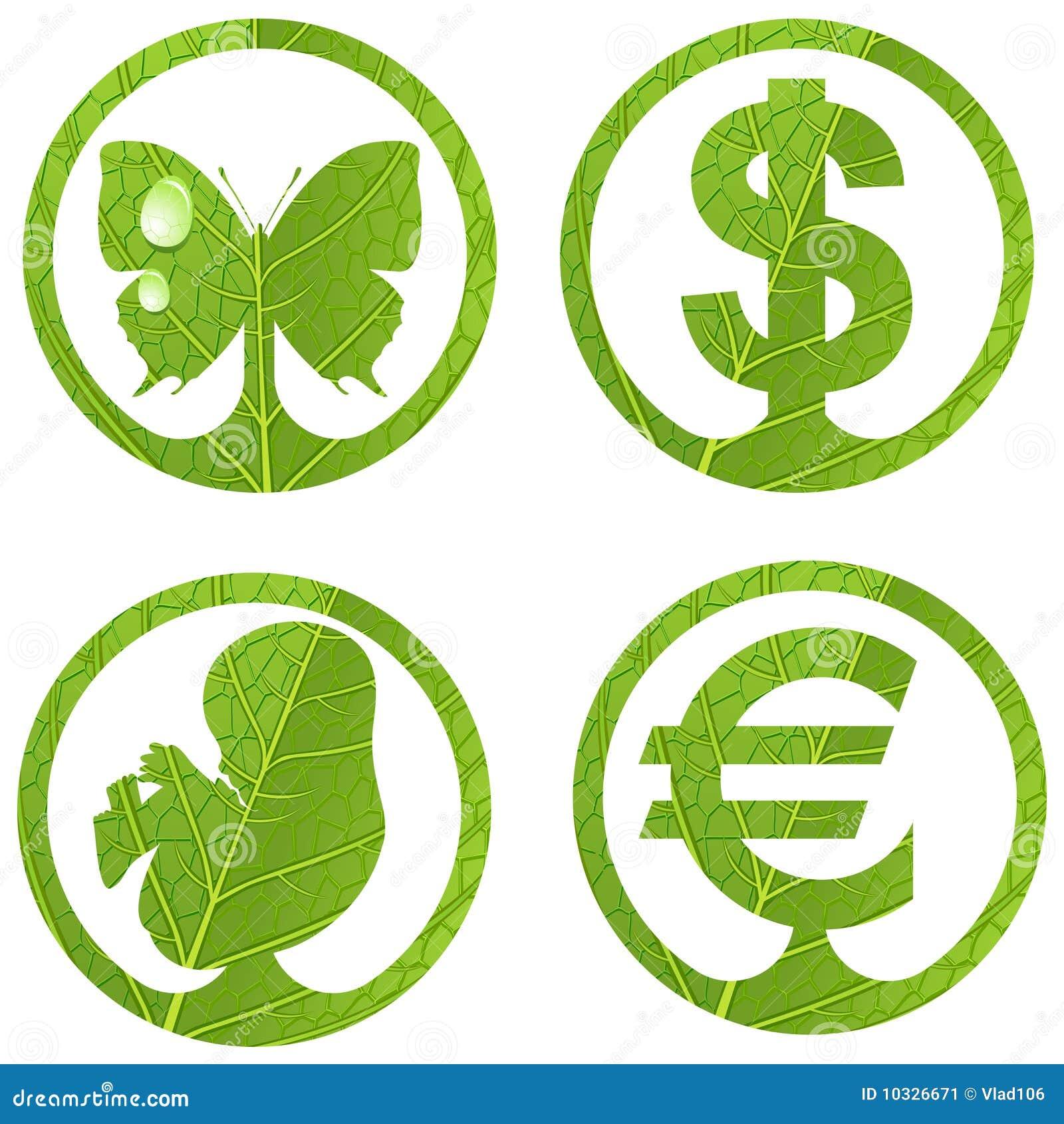 3 set tecken för eco
