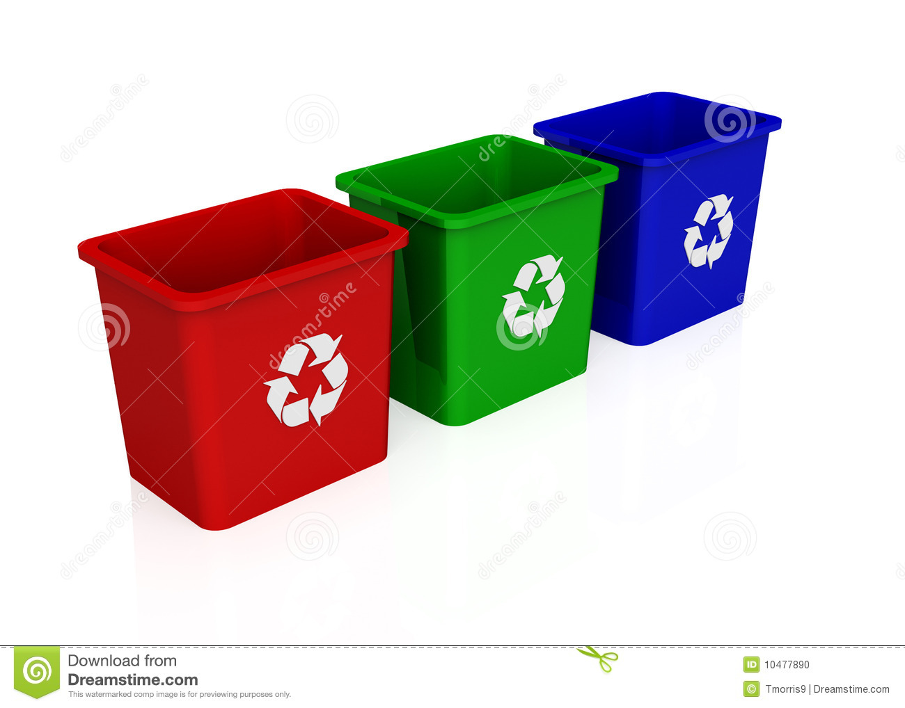 Big Containers For Recycling Waste Sorting Recycle Bin