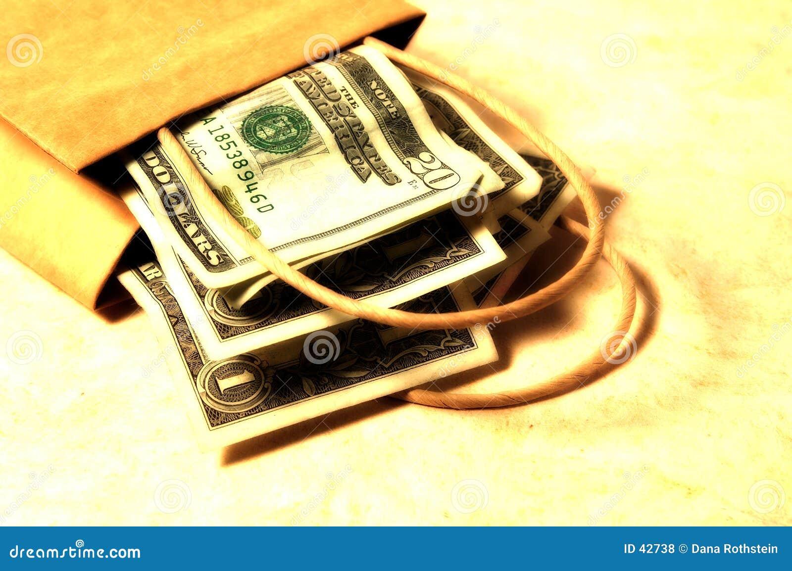 3 torby pieniędzy