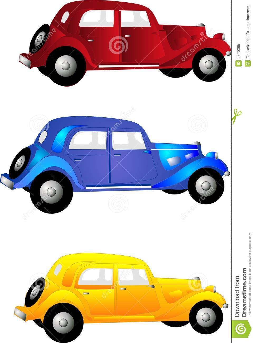 3 vintage cars stock vector illustration of automobile 9320365 rh dreamstime com old car clipart black and white vintage race car clipart