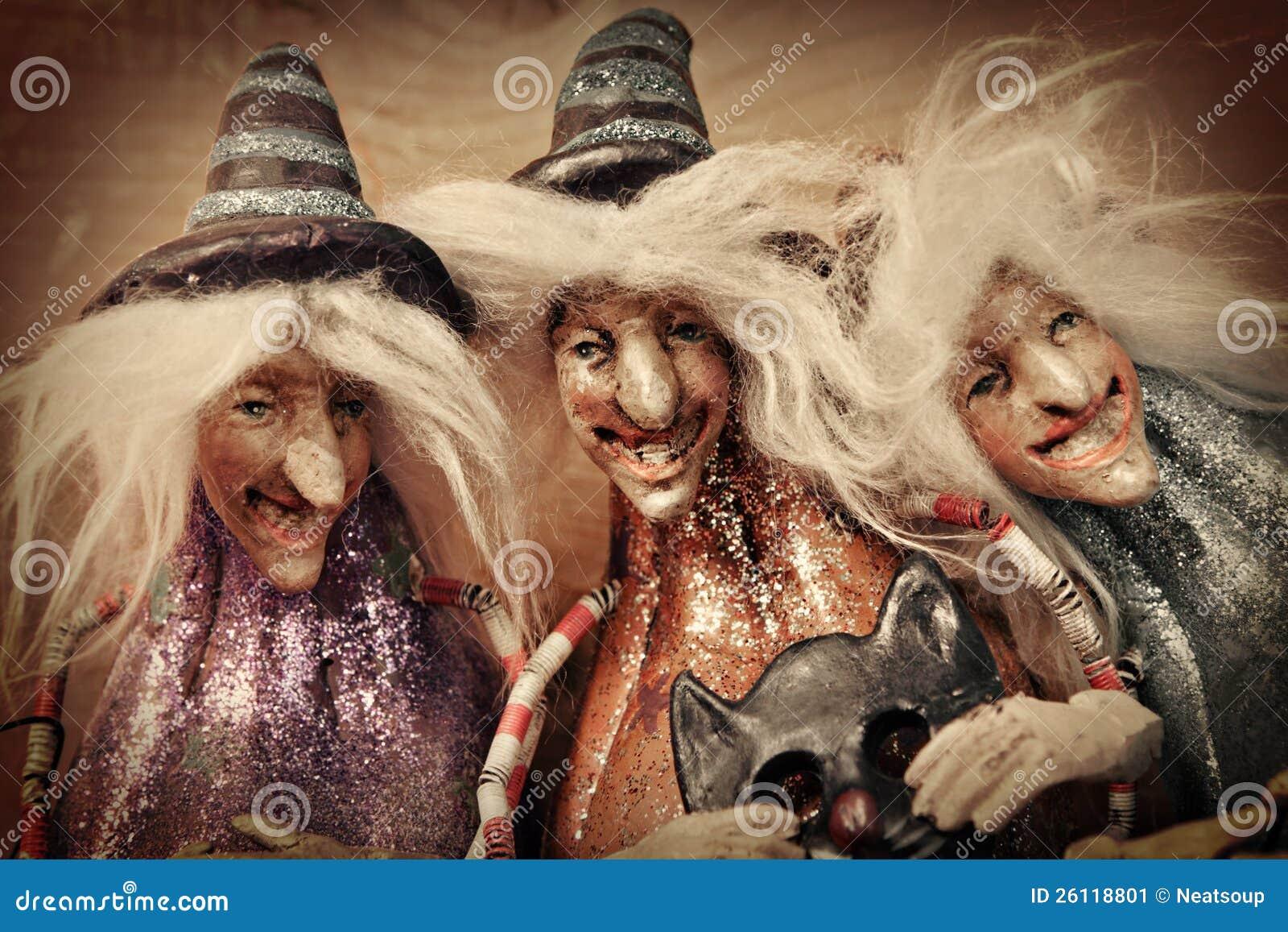 3 Witches Stock Image Image Of Wood Orange Black
