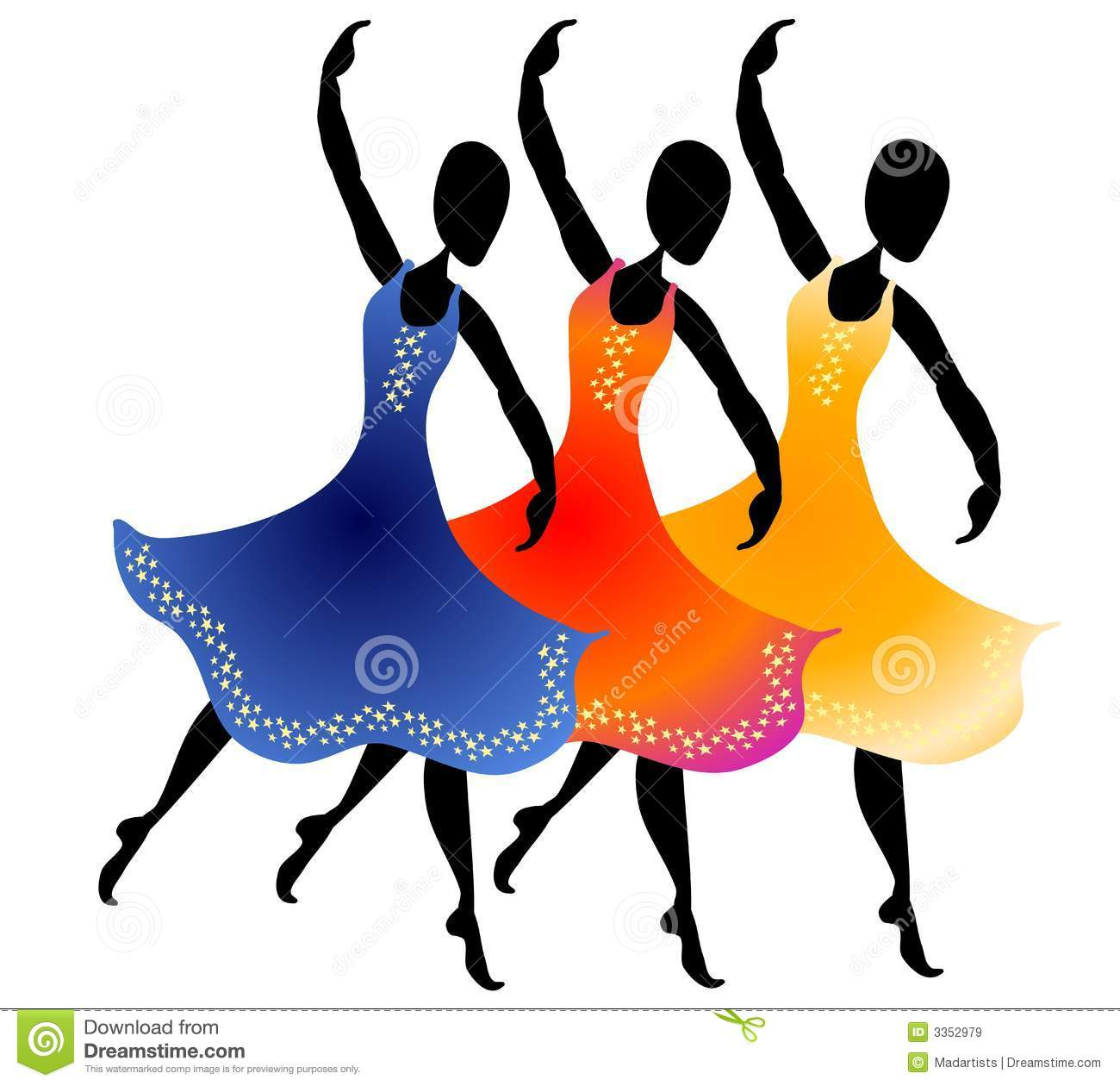3 women dancing clip art stock illustration illustration of images rh dreamstime com clip art dance shoes clip art dancer silhouette
