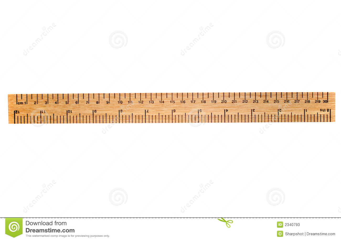A 30 Cm Wooden Ruler Stock Photos  Image 2340793