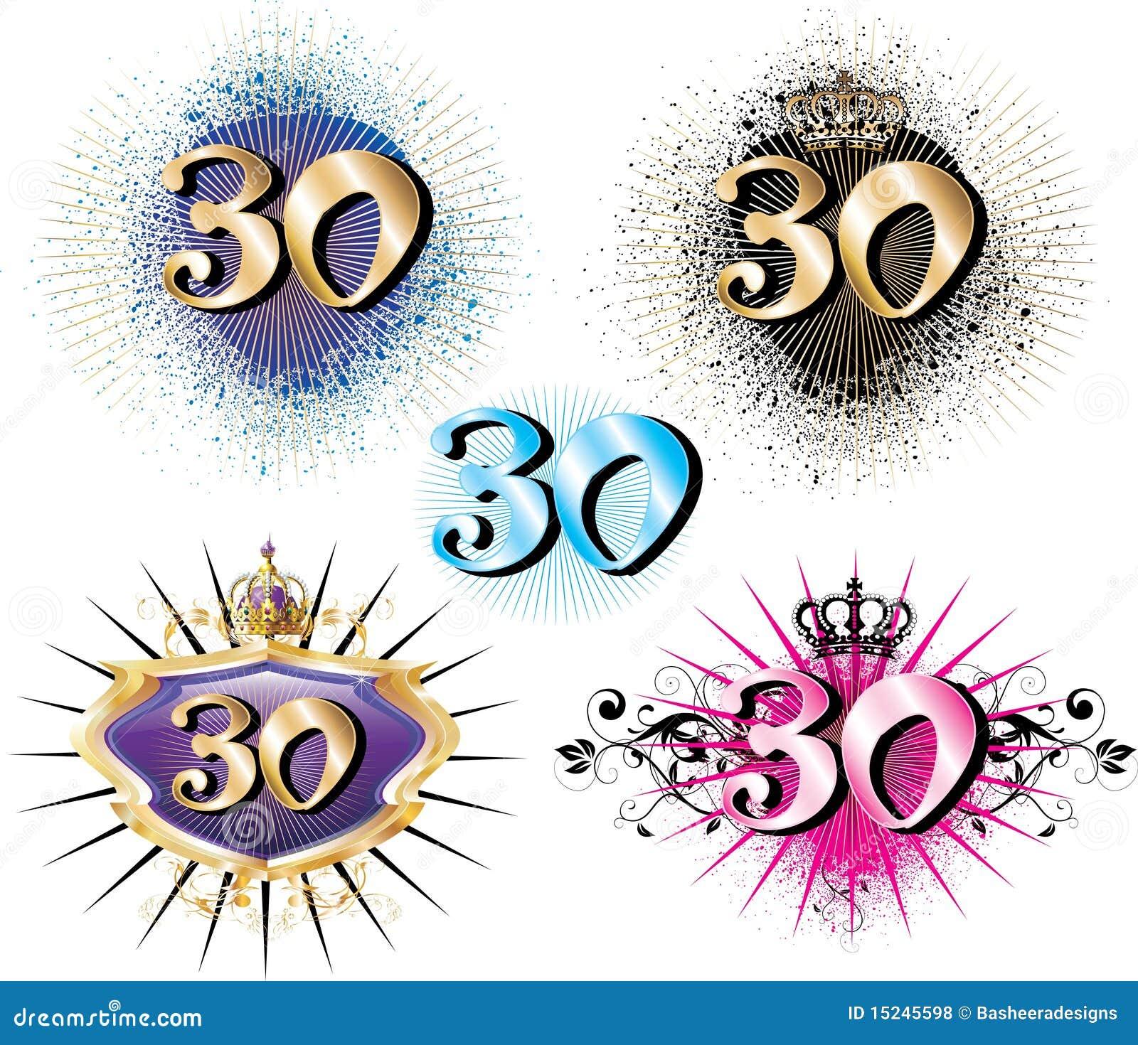 30 Geburtstag Oder Jahrestag Vektor Abbildung