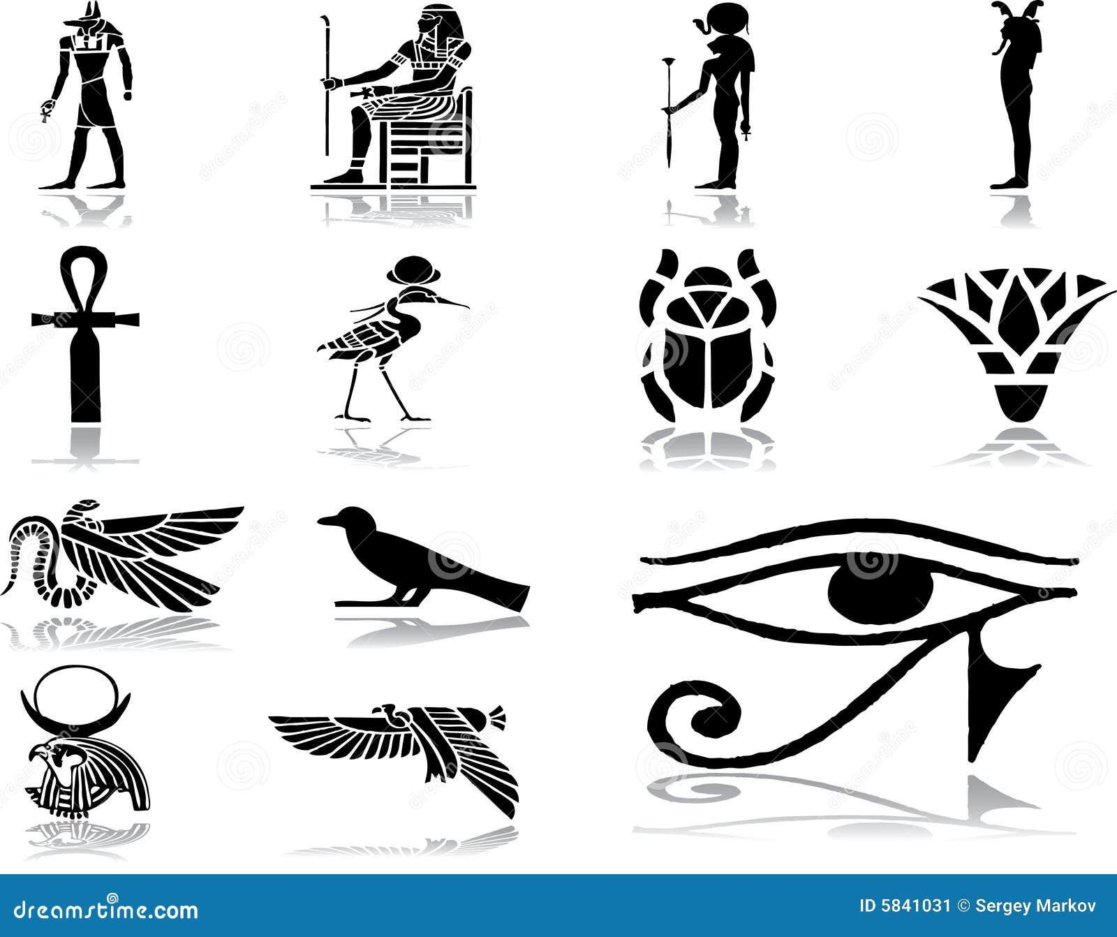 30 inställda egypt symboler