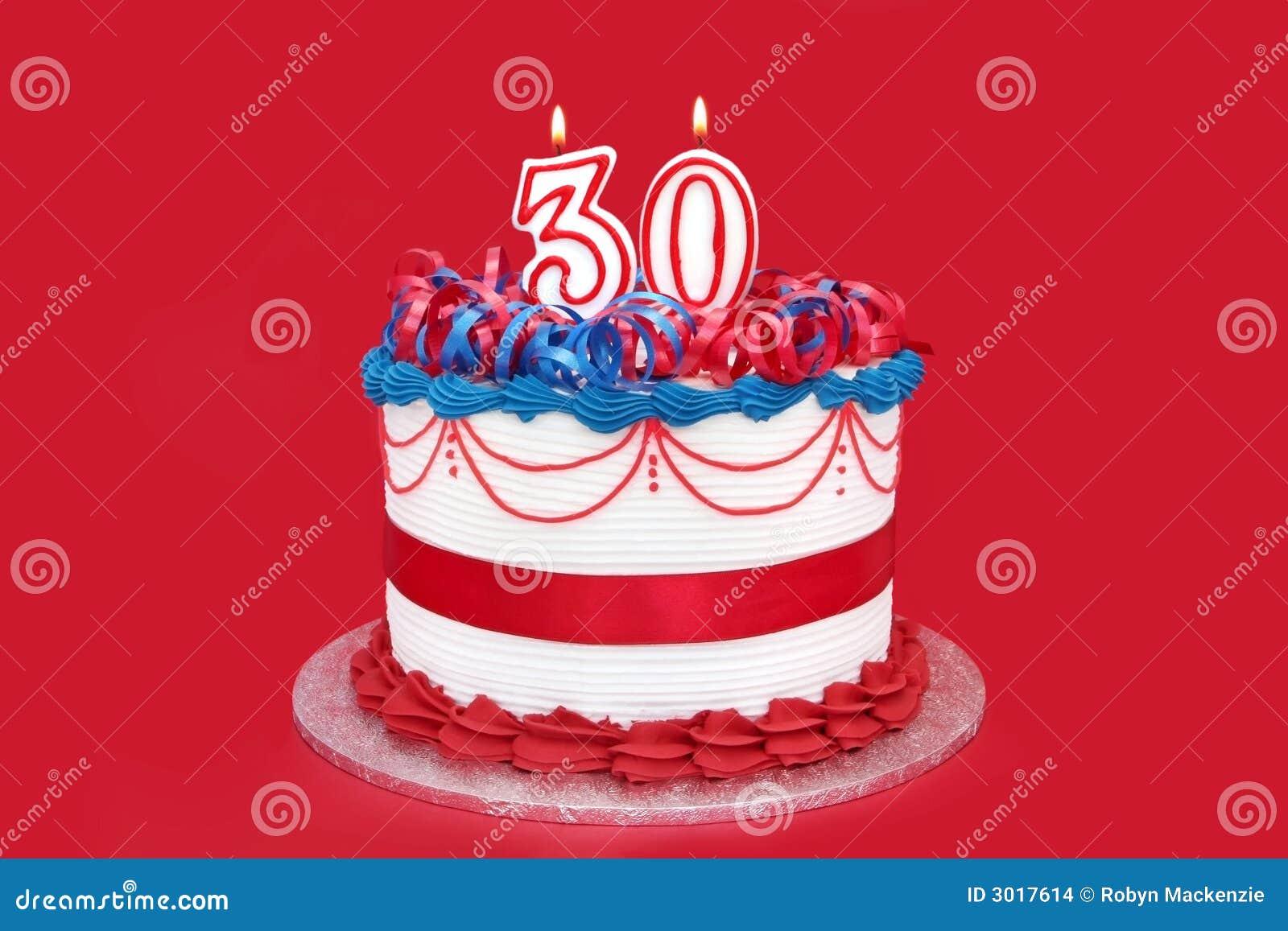 Geburtstagskuchen 30 Geburtstag