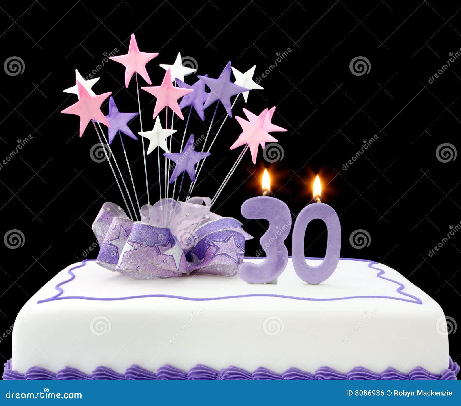 30 Kuchen Stockfoto Bild Von Dreissig Hintergrund Niemand 8086936