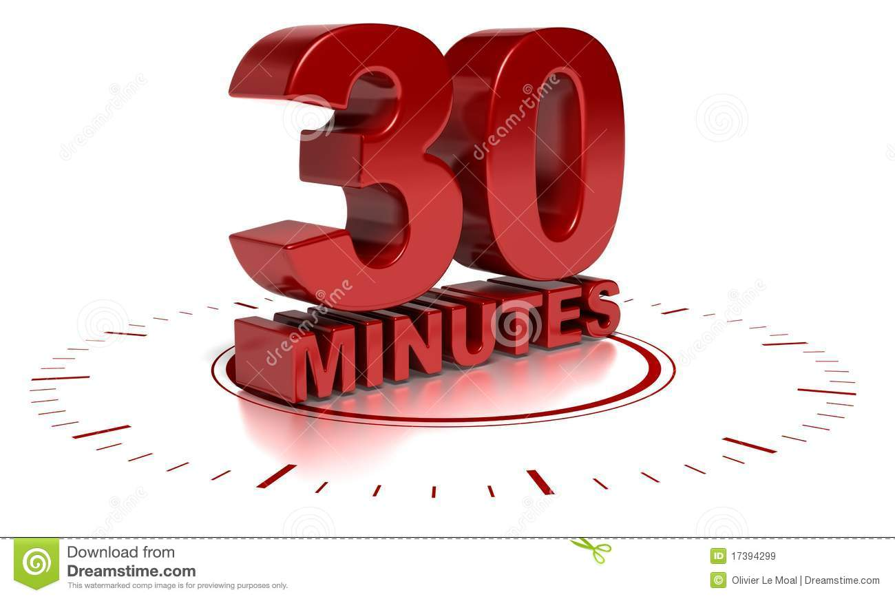 Heating Things Up With A Microwave further Royalty Free Stock Images 30 Minutes Image17394299 besides Viertelstunde additionally Day 1 Of 30 Our True Identity Challenge moreover Math Facts Race. on timer set for 30 minutes