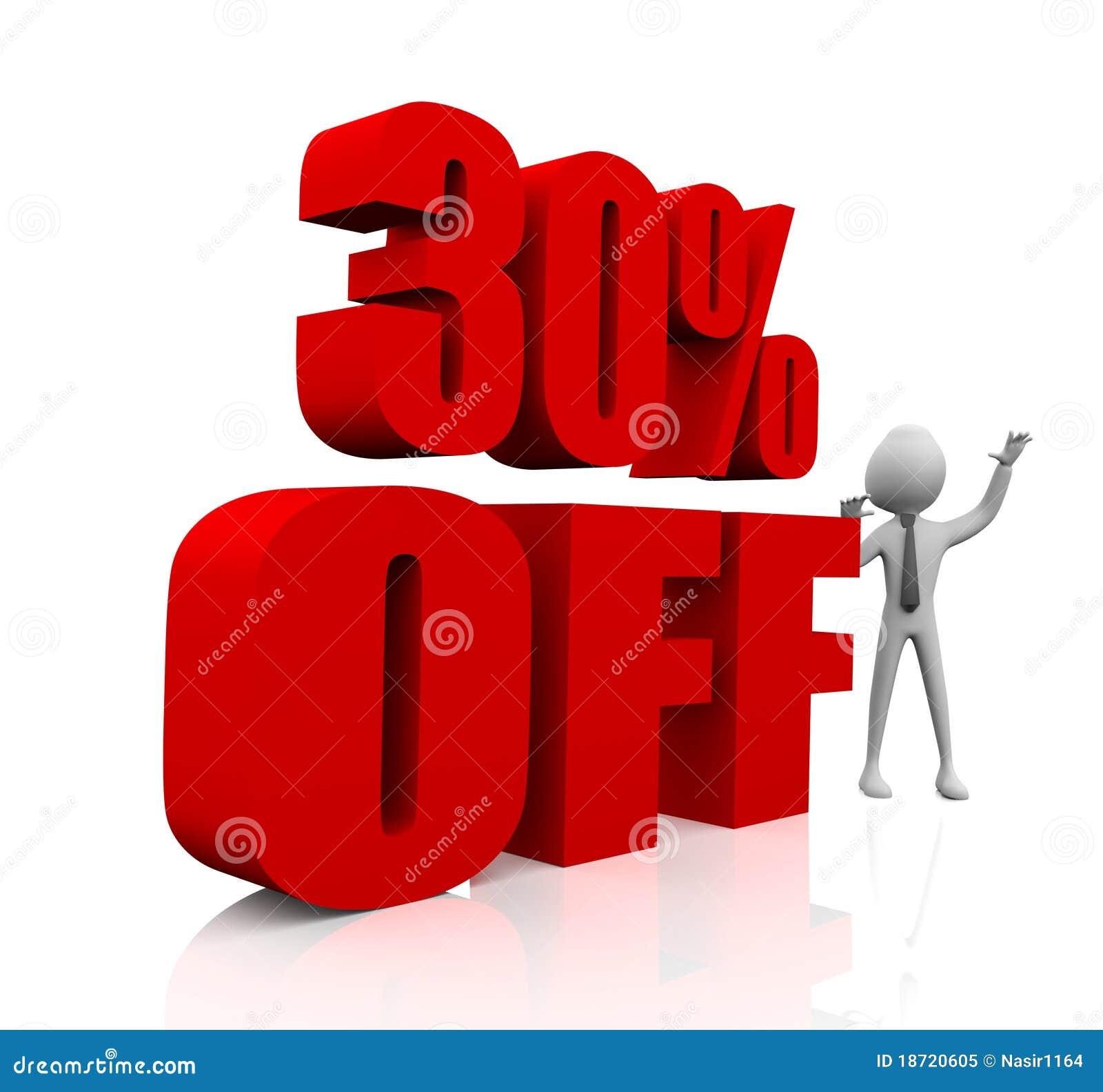 30% Rabatt stock abbildung. Illustration von kennsatz - 18720605