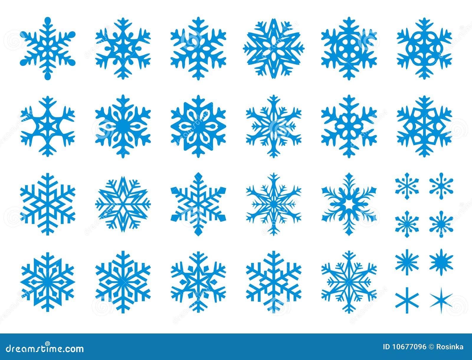 30 ustalony płatków śniegów wektor
