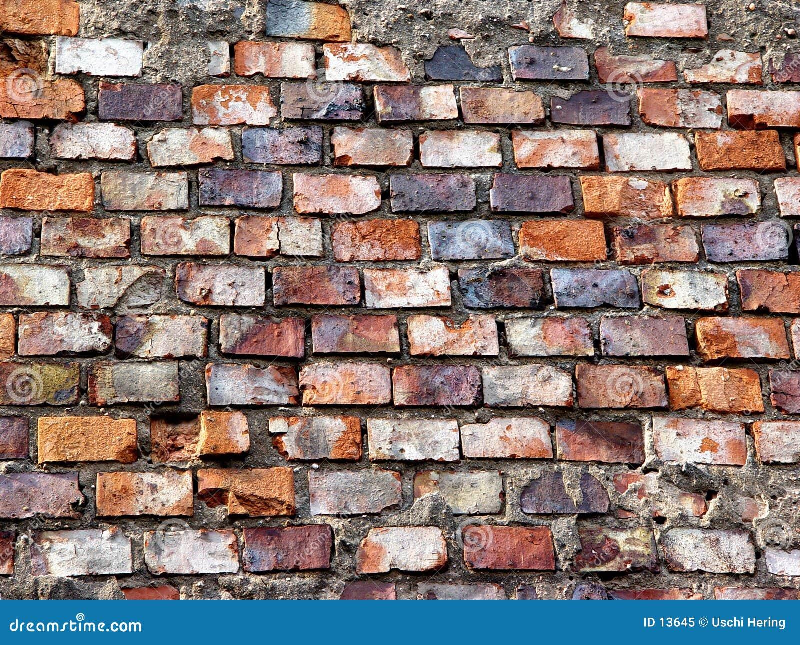 砖脏的墙壁