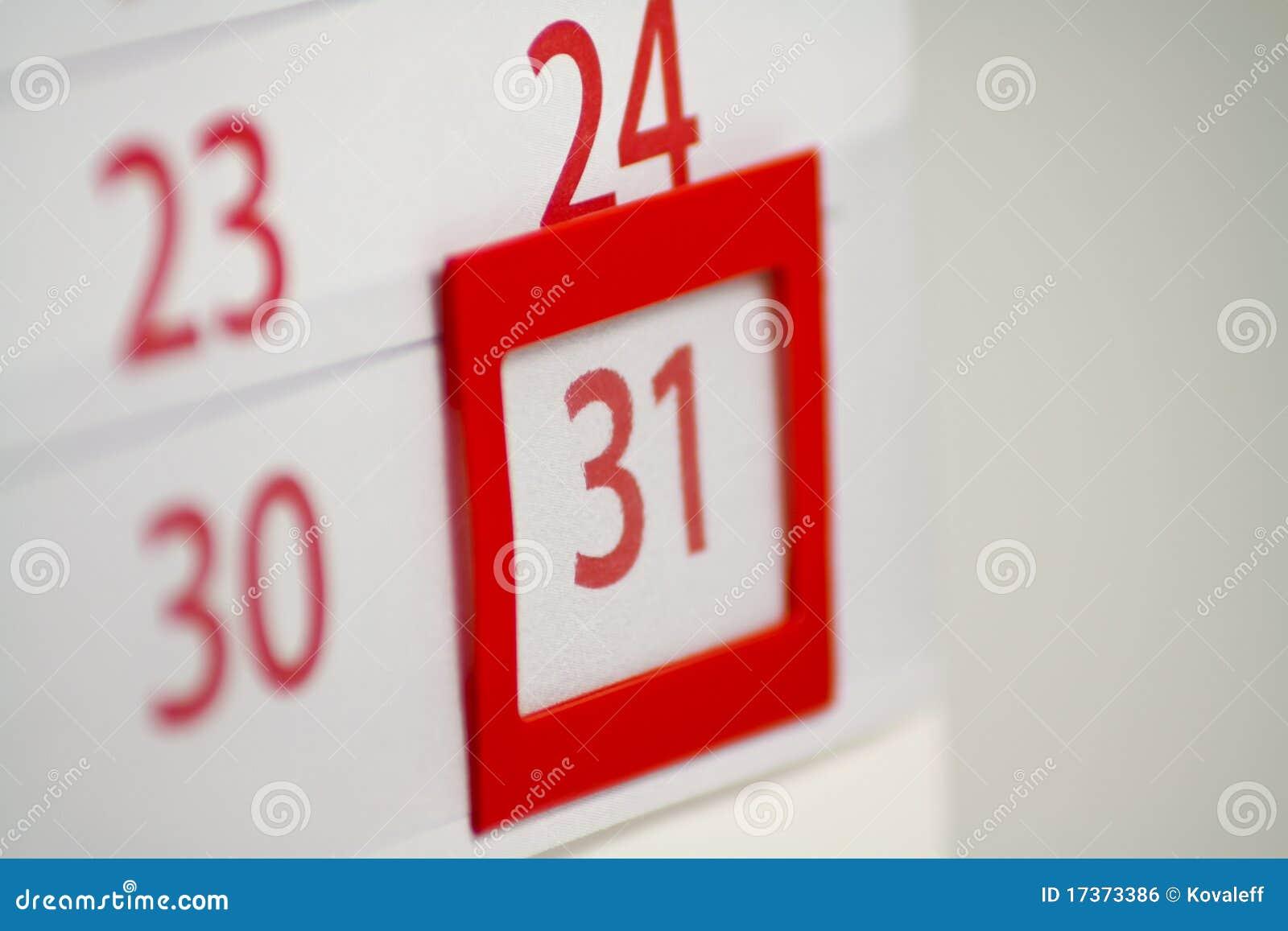 31 kalendarzowa ostrość