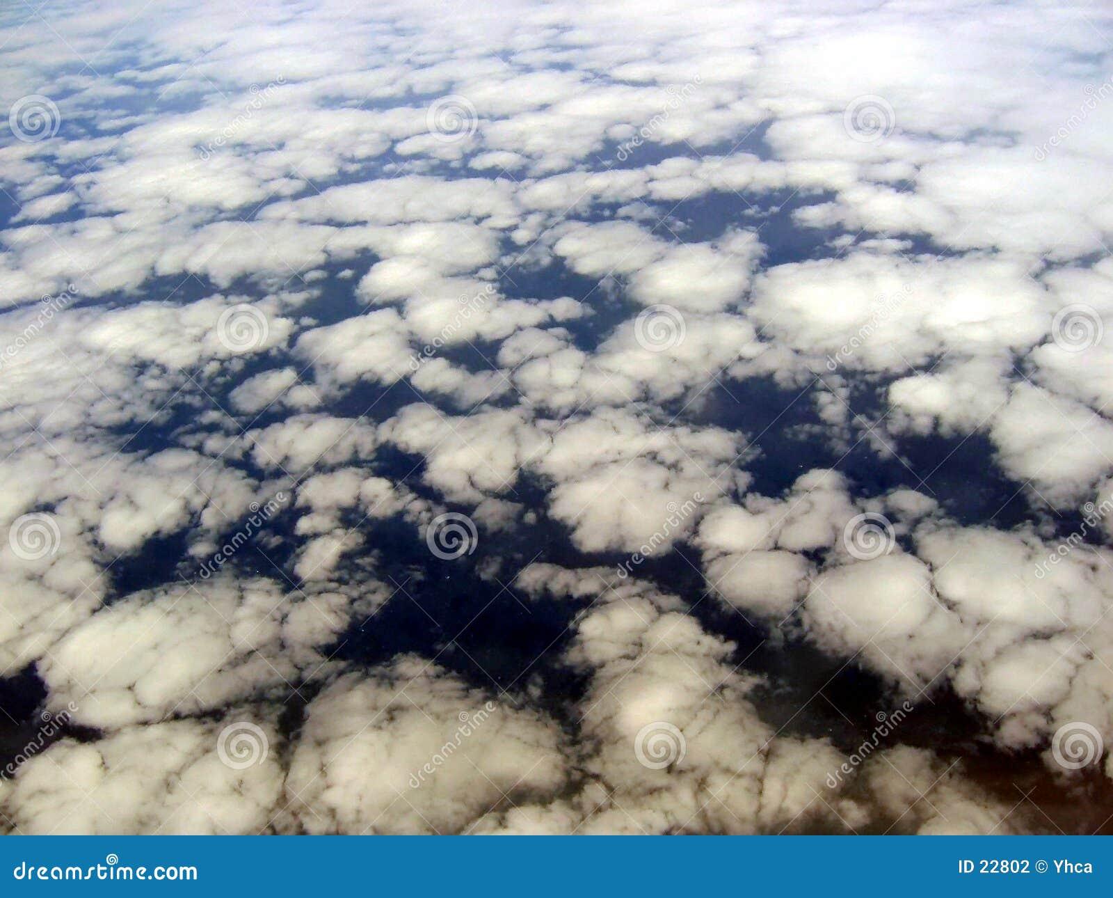 空中云彩形成视图