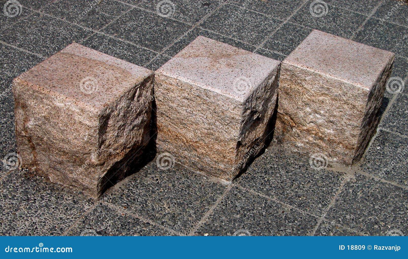 立方体几何石头
