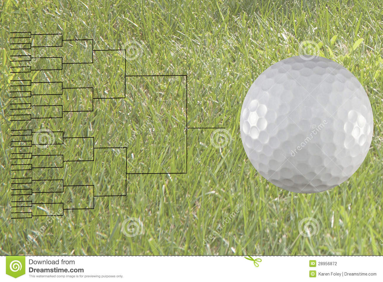 32 Player Golf Match Play Bracket