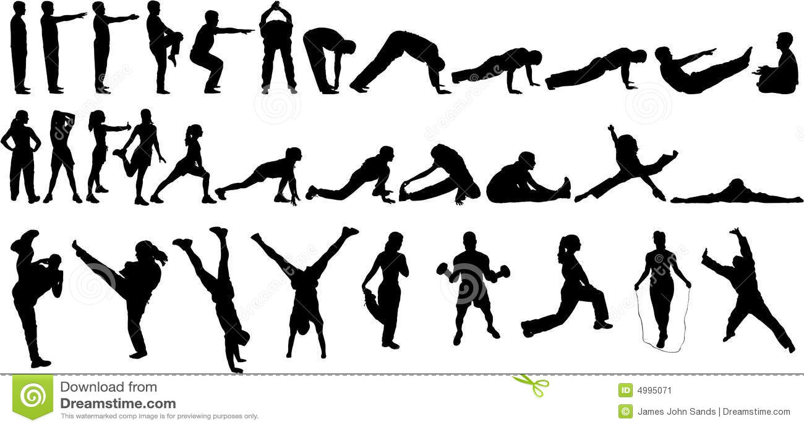 32 siluette di esercitazione
