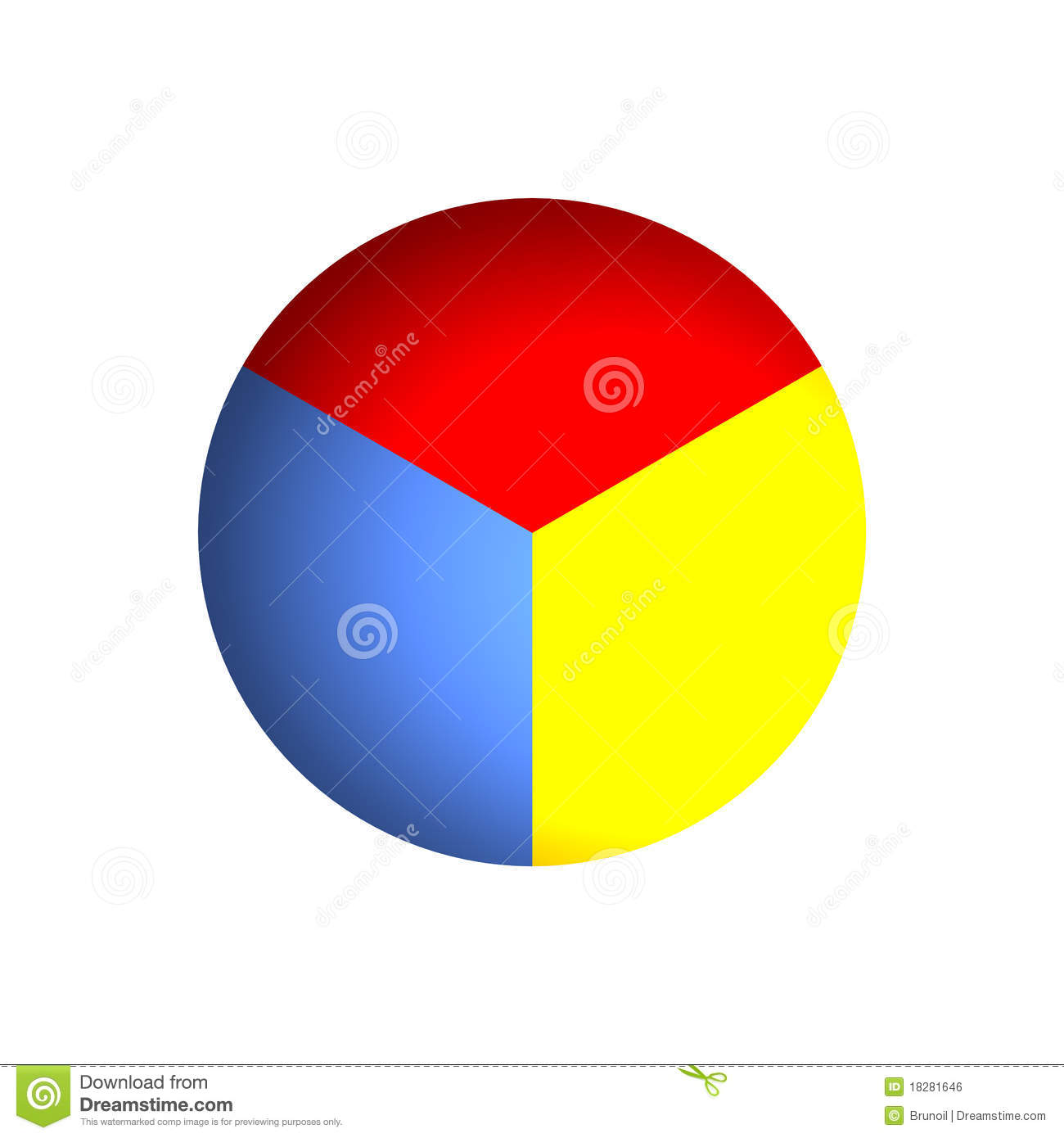 33% Business Pie Chart Royalty Free Stock Image - Image: 18281646