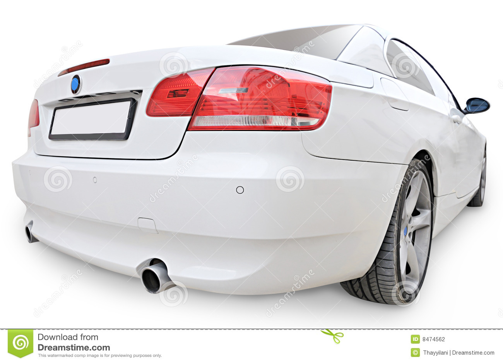 335i bak sikt för hörn för bmw-bil konvertibel