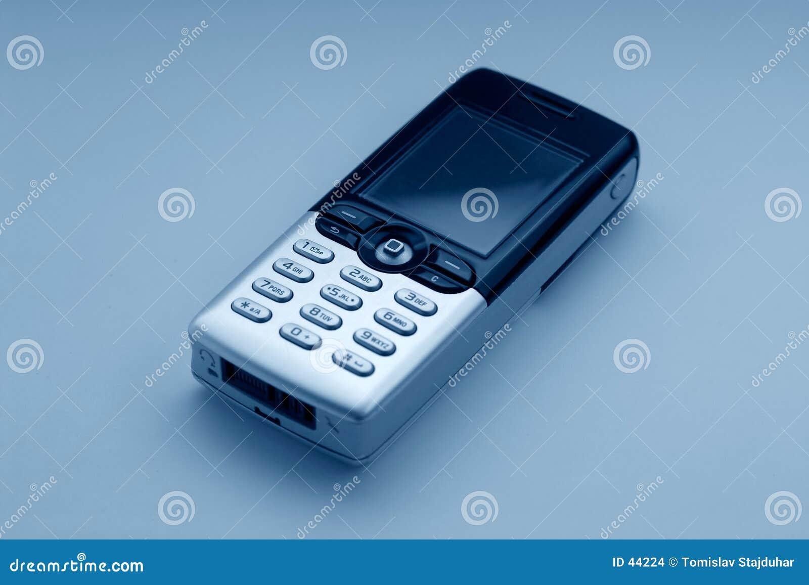 蓝色移动电话口气