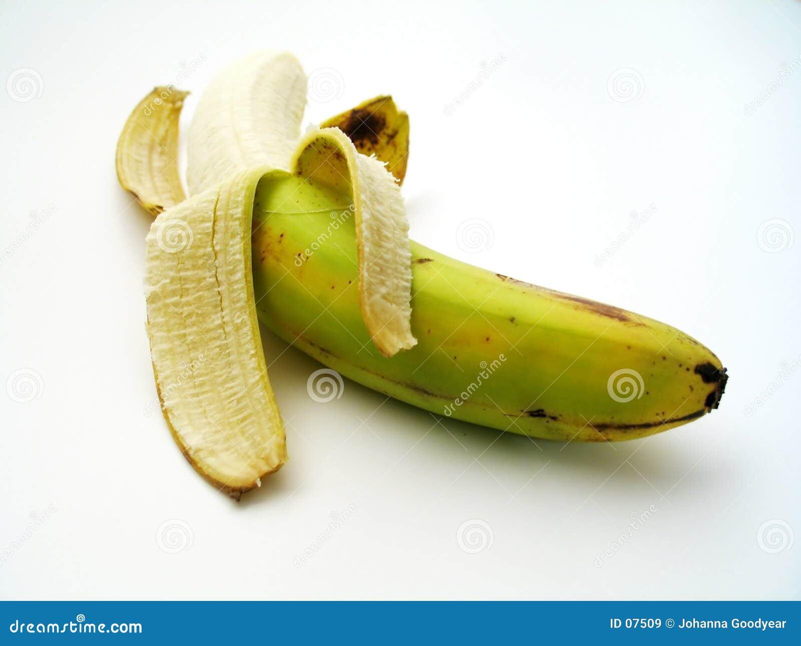 被剥皮的香蕉
