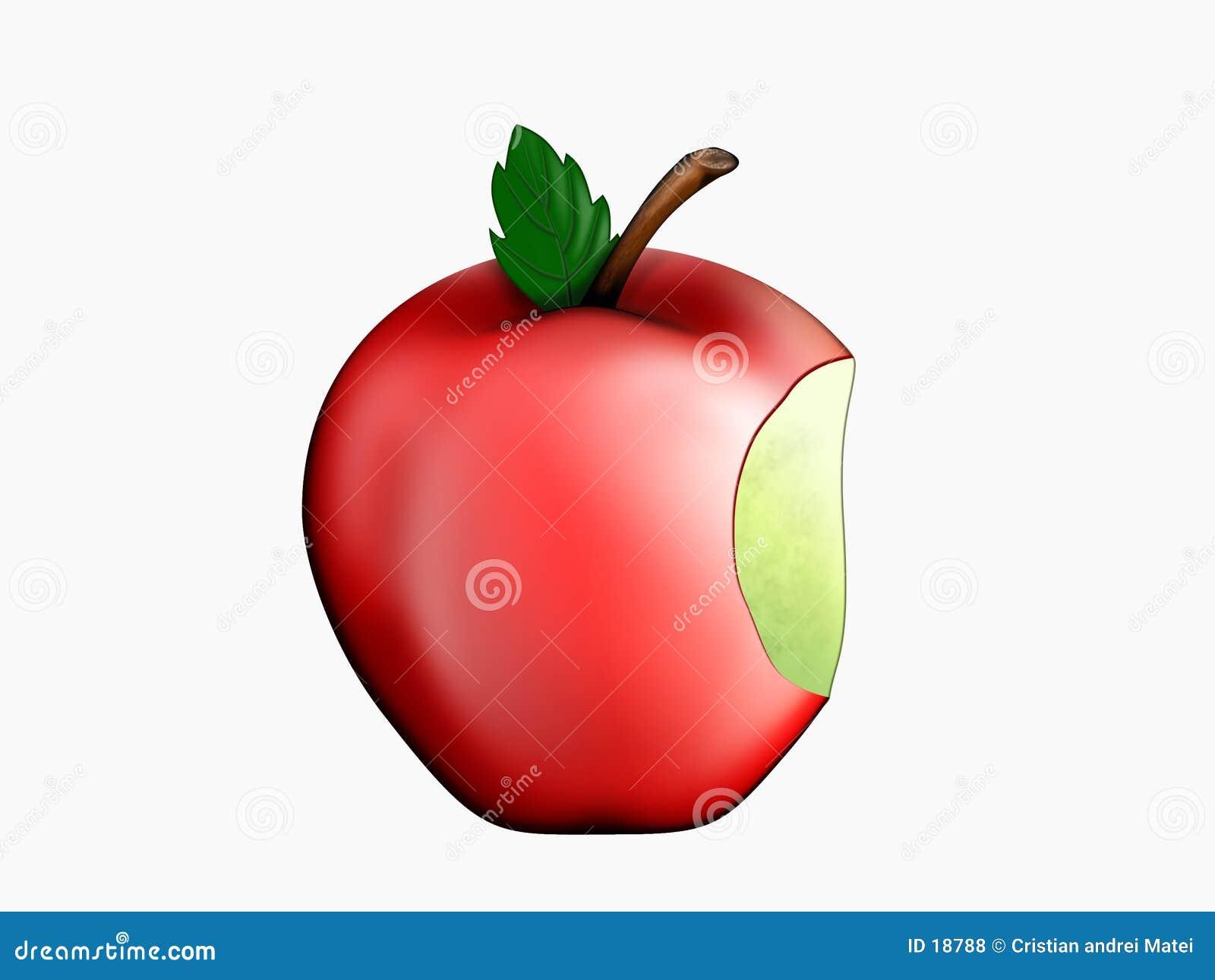 被咬住的苹果