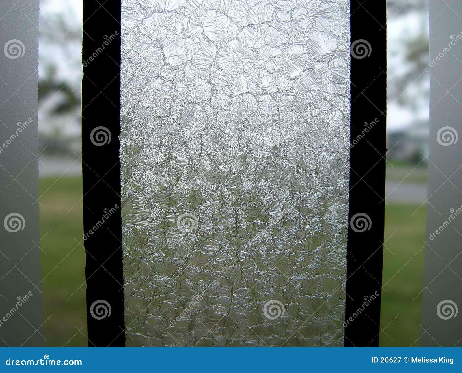 被弄脏的玻璃部分