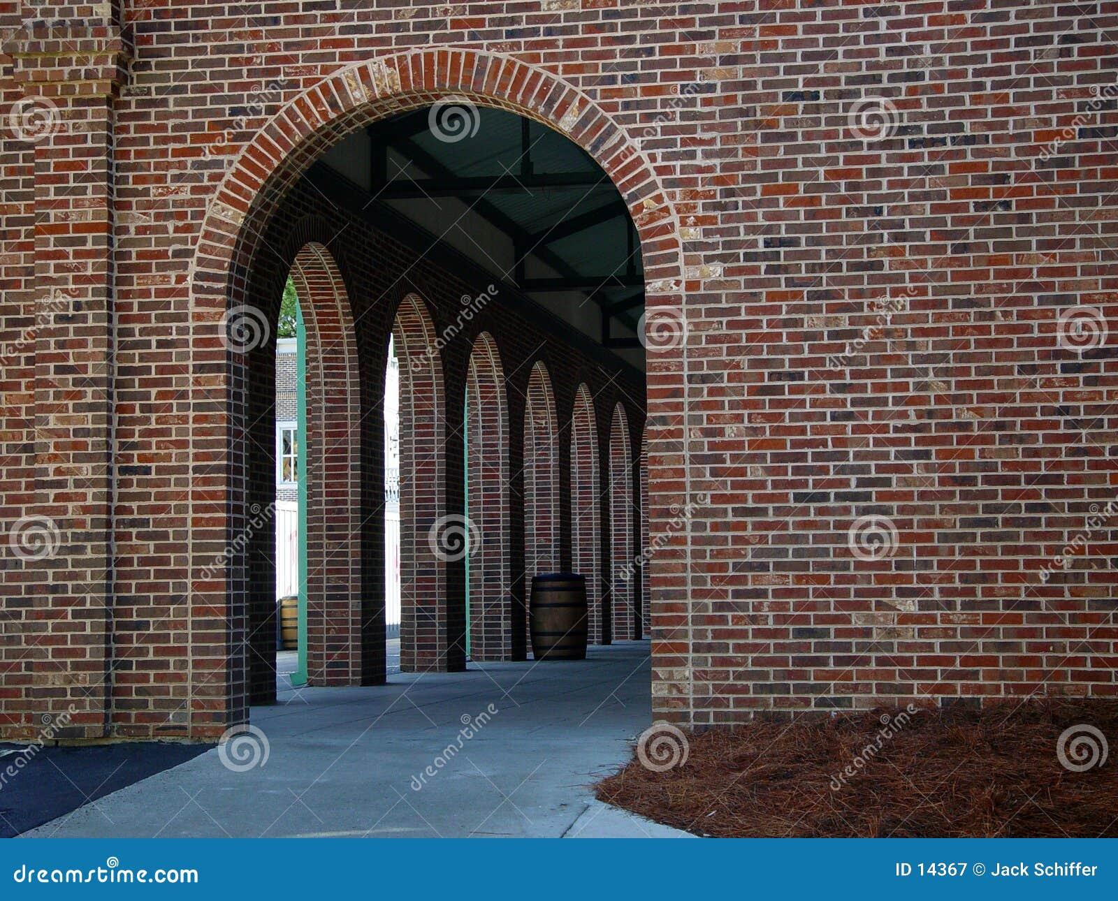 被成拱形的入口