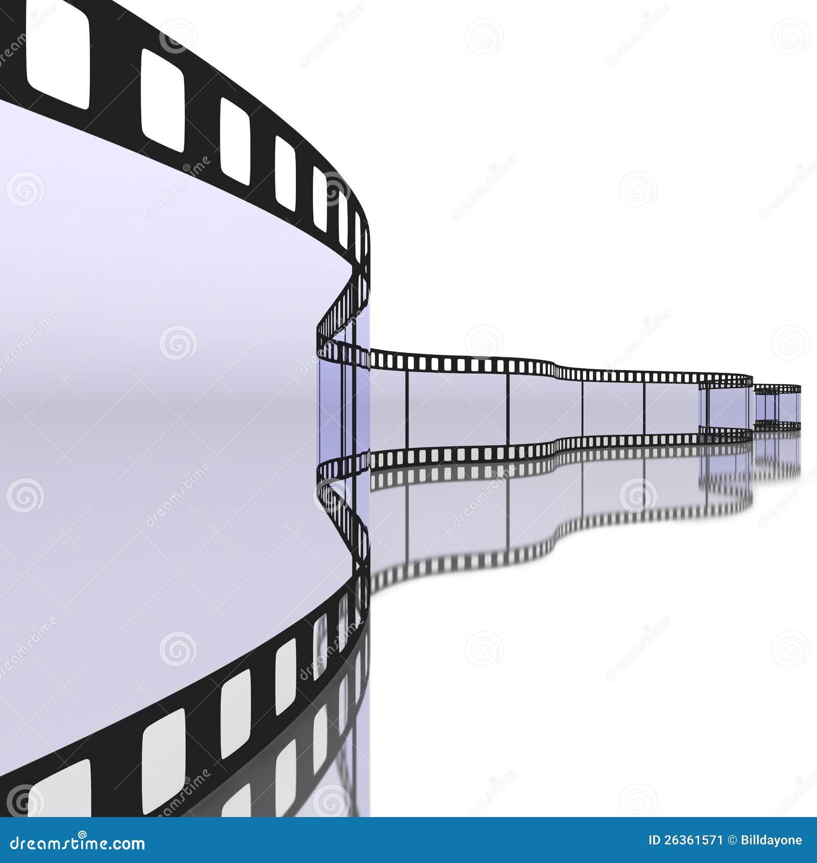 35 Millimeter filmstrip mit Reflexion