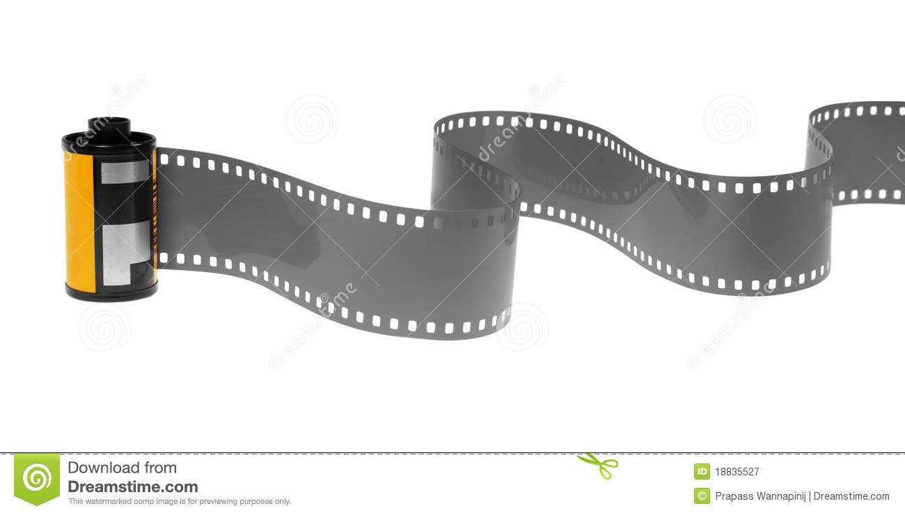 35mm Classic Negative Film Roll Isolated Stock Image - Image of