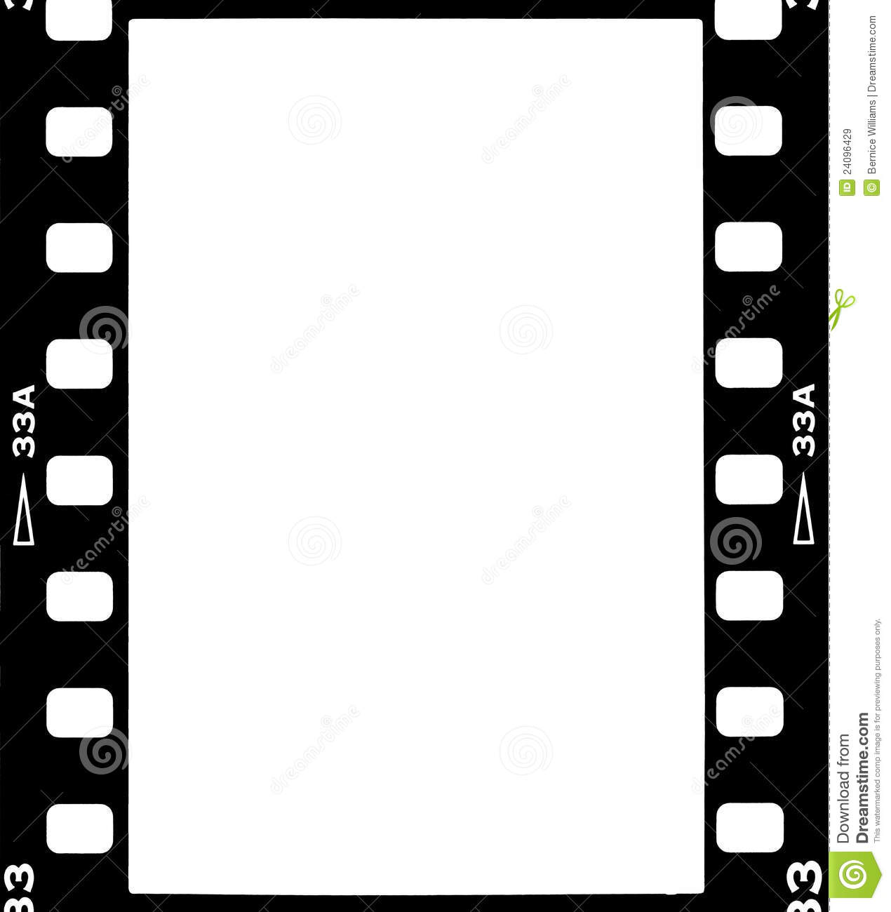 scan of 35mm film frame with copy space or layer over another image