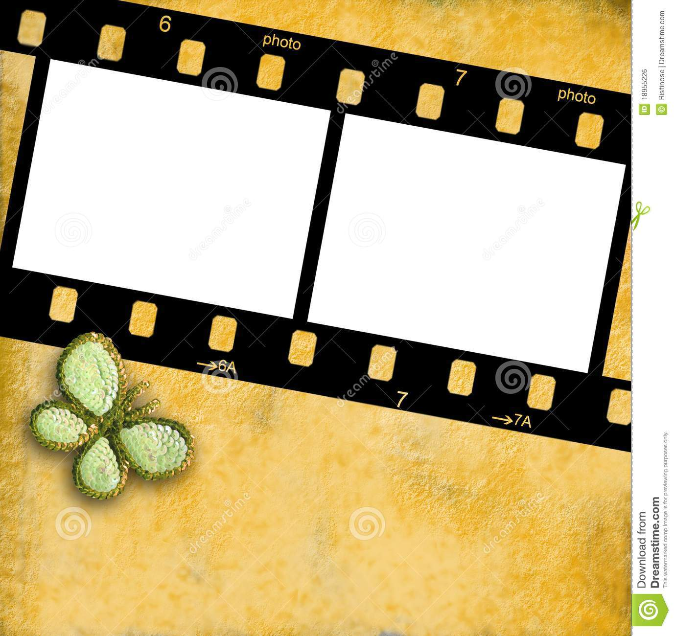 Attractive 35mm Film Frame For Two Photos Isolated Stock Photo - Image of  QH33