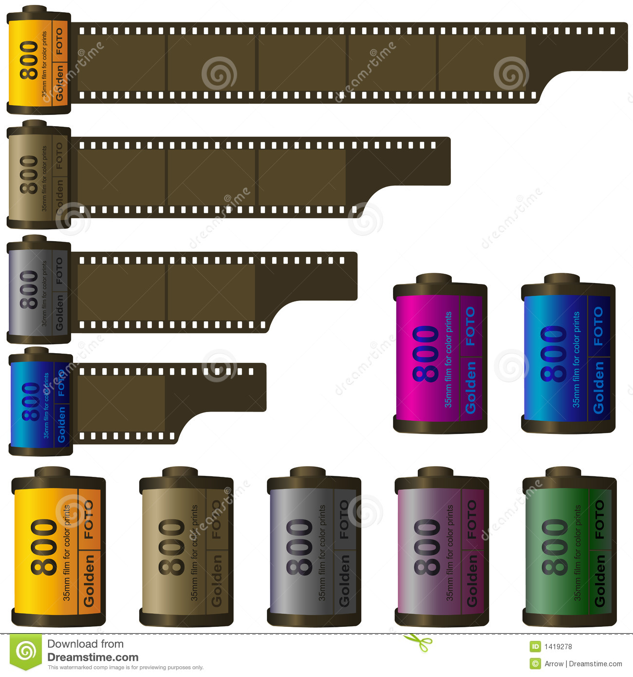 35mm film roll. You can put your pictures or photos on the film strips ...