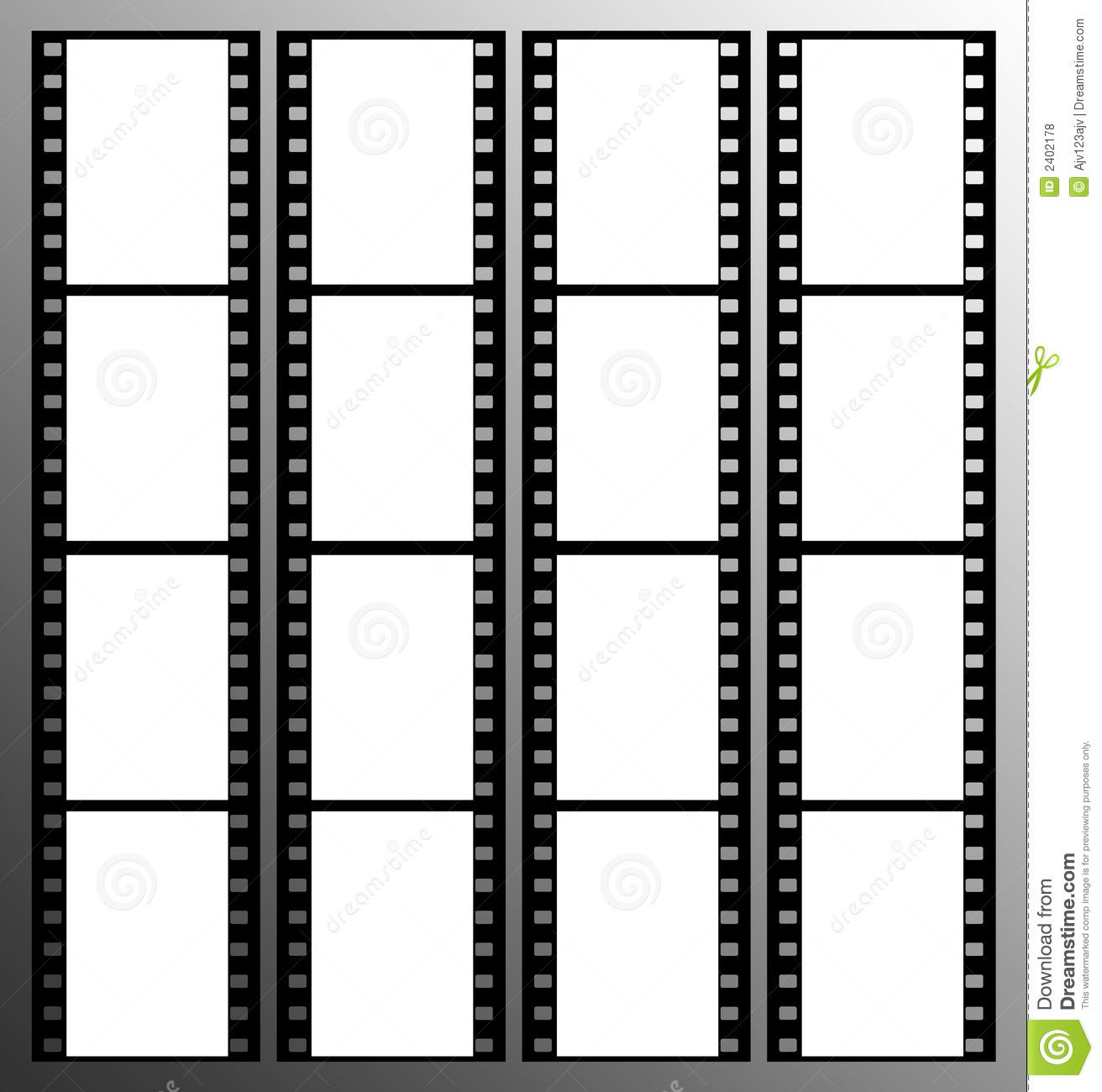 35mm Film Strip Frames Frame Stock Vector - Illustration of mask ...