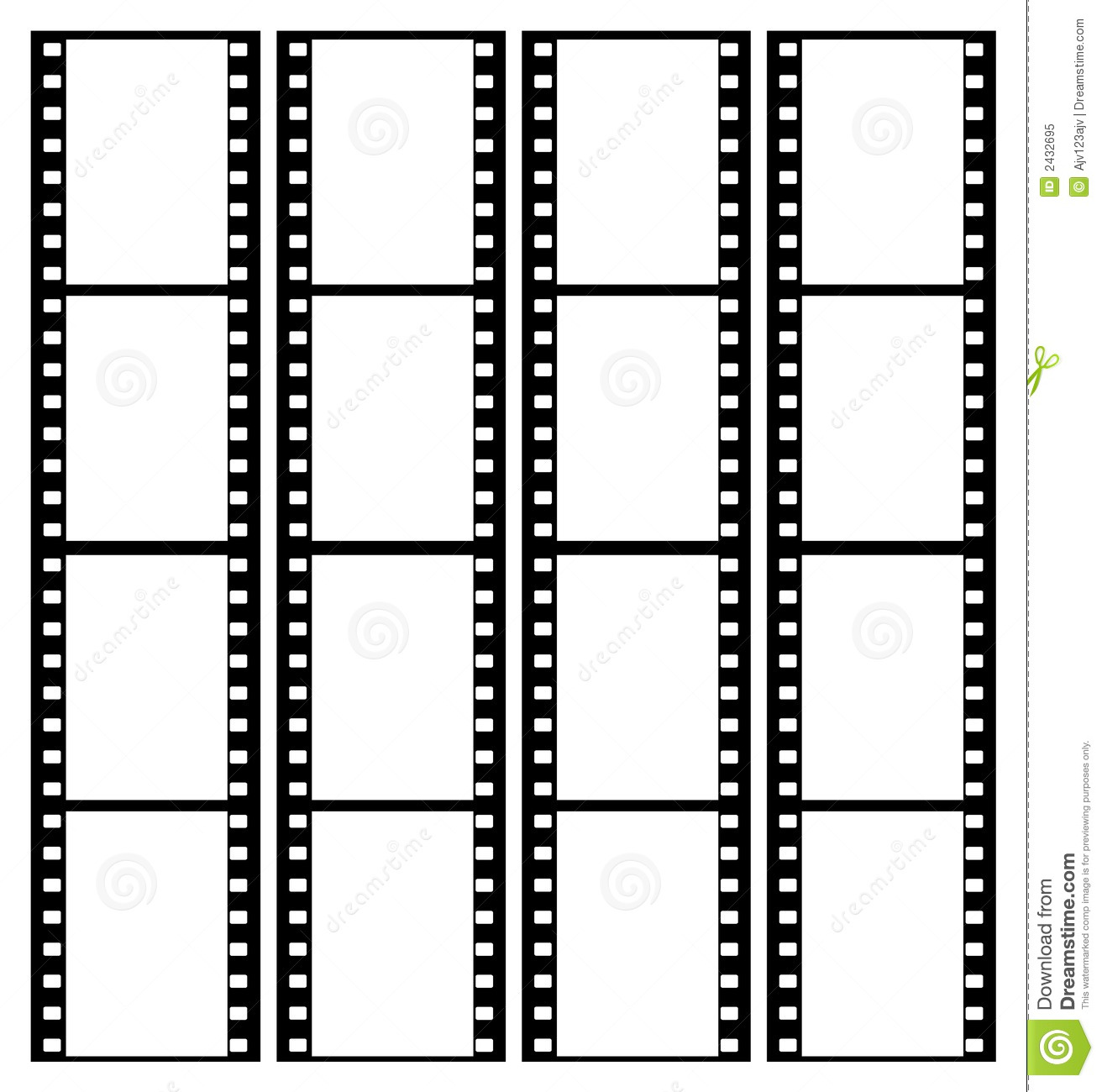 35mm Film Strip Frames Frame Stock Vector - Illustration of kodak ...