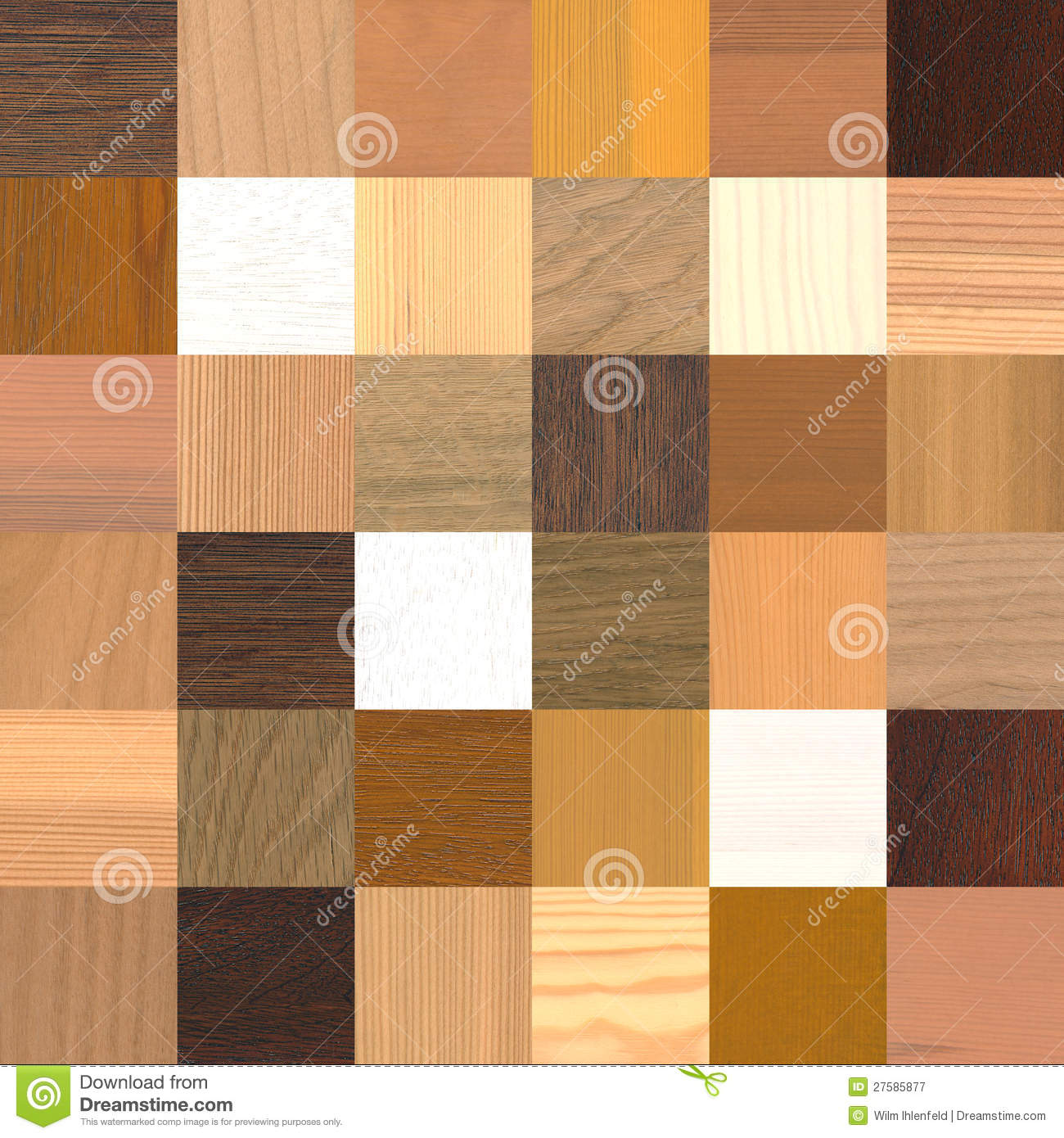 36 Different Wood Samples Royalty Free Stock Photography