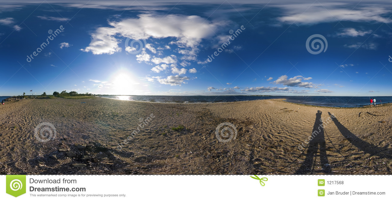 360 Degree Beach Panorama