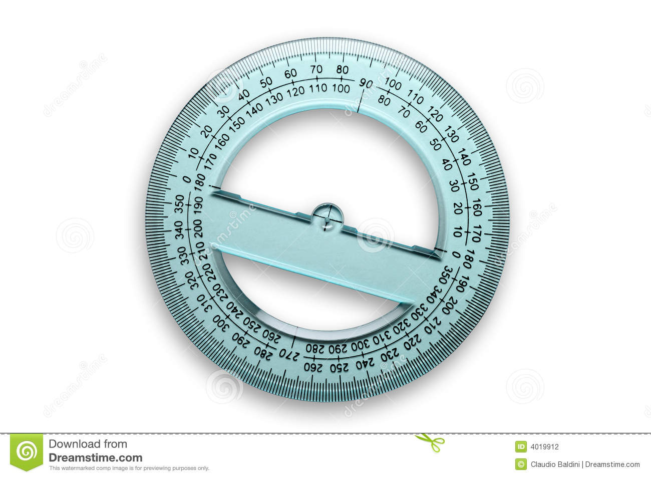 360 degrees protractor stock photo image of measure geometry royalty free stock photo geenschuldenfo Image collections