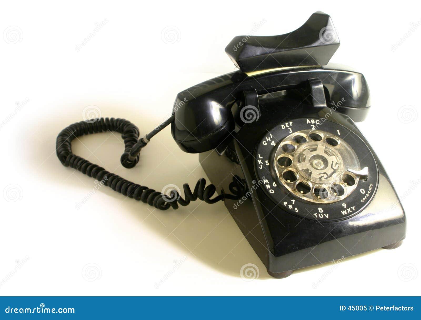 转台式的电话