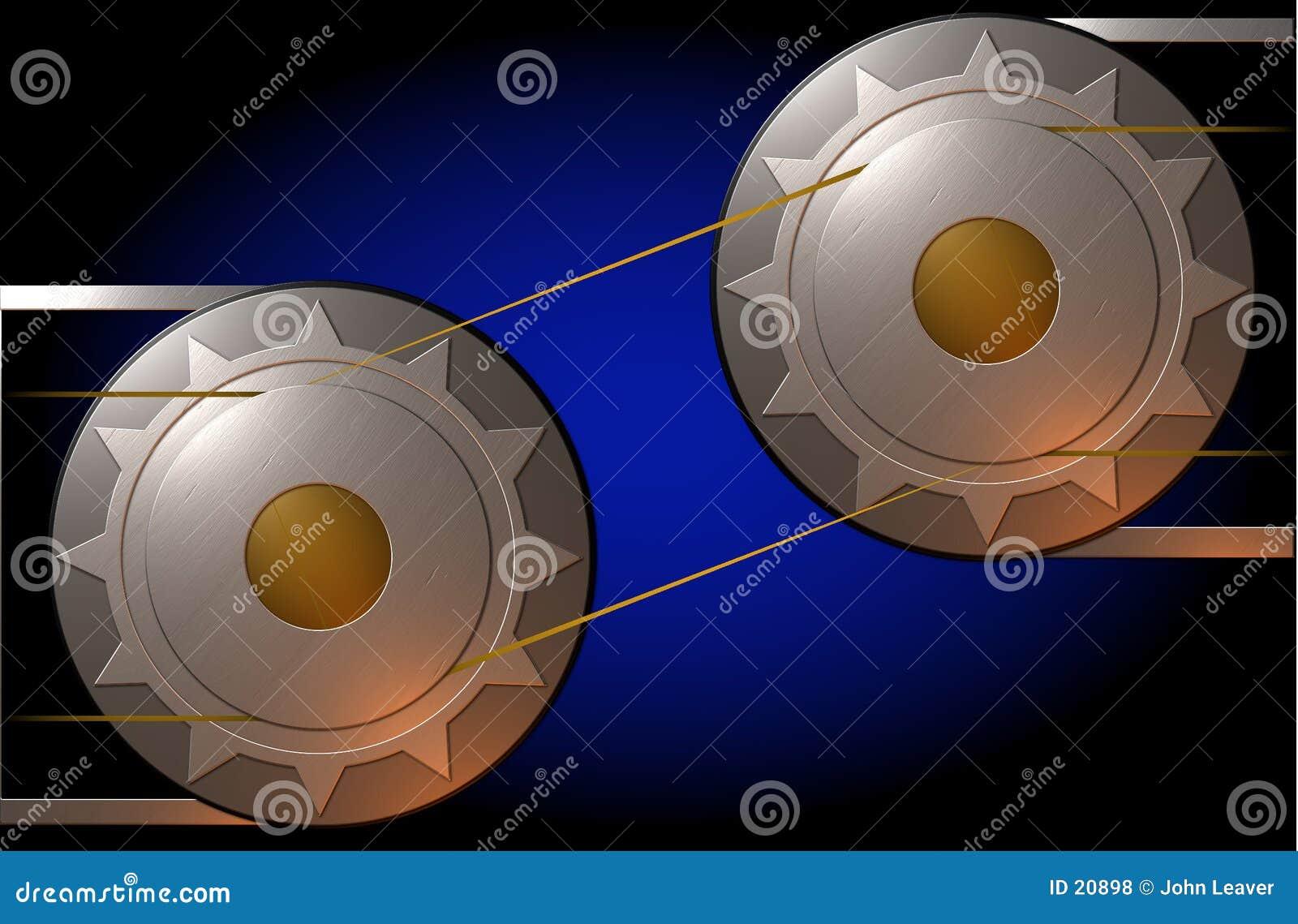 金属的嵌齿轮