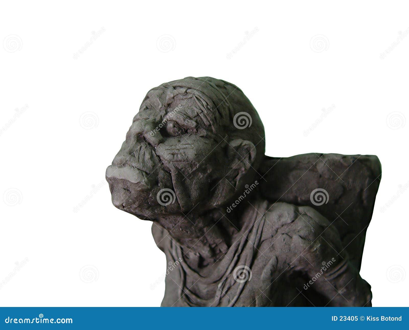 非洲小的雕象妇女