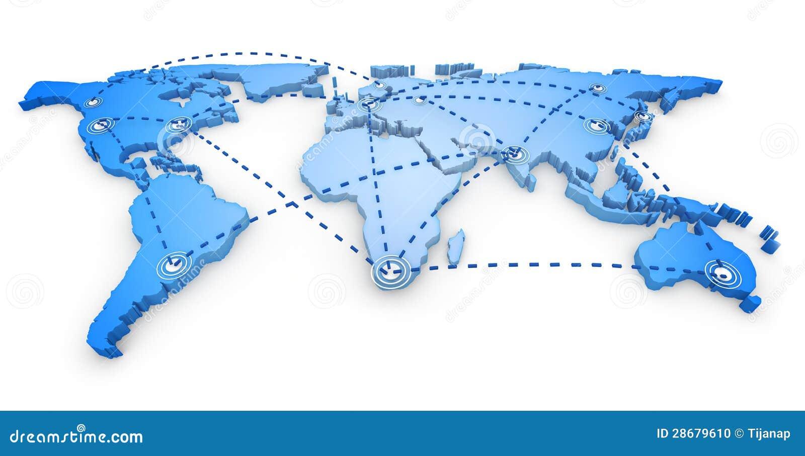 3d世界地图 库存照片