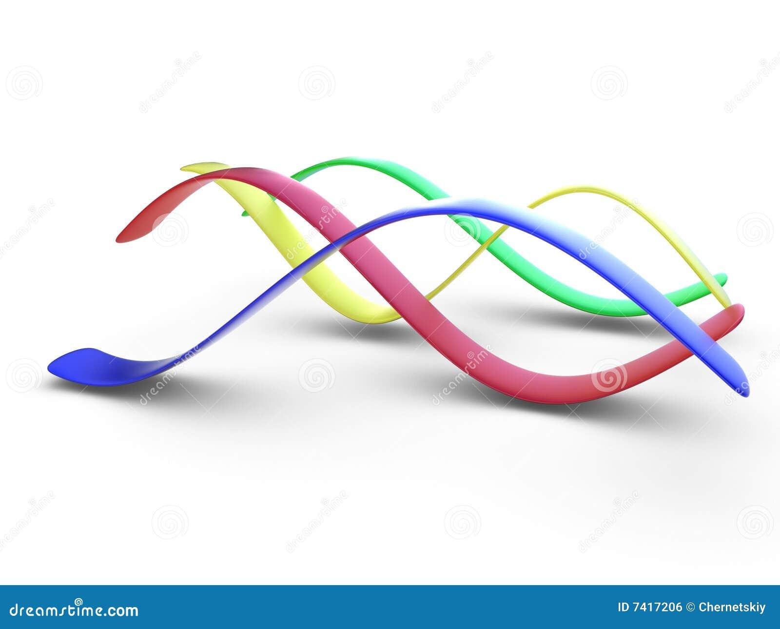 3d五颜六色的曲线