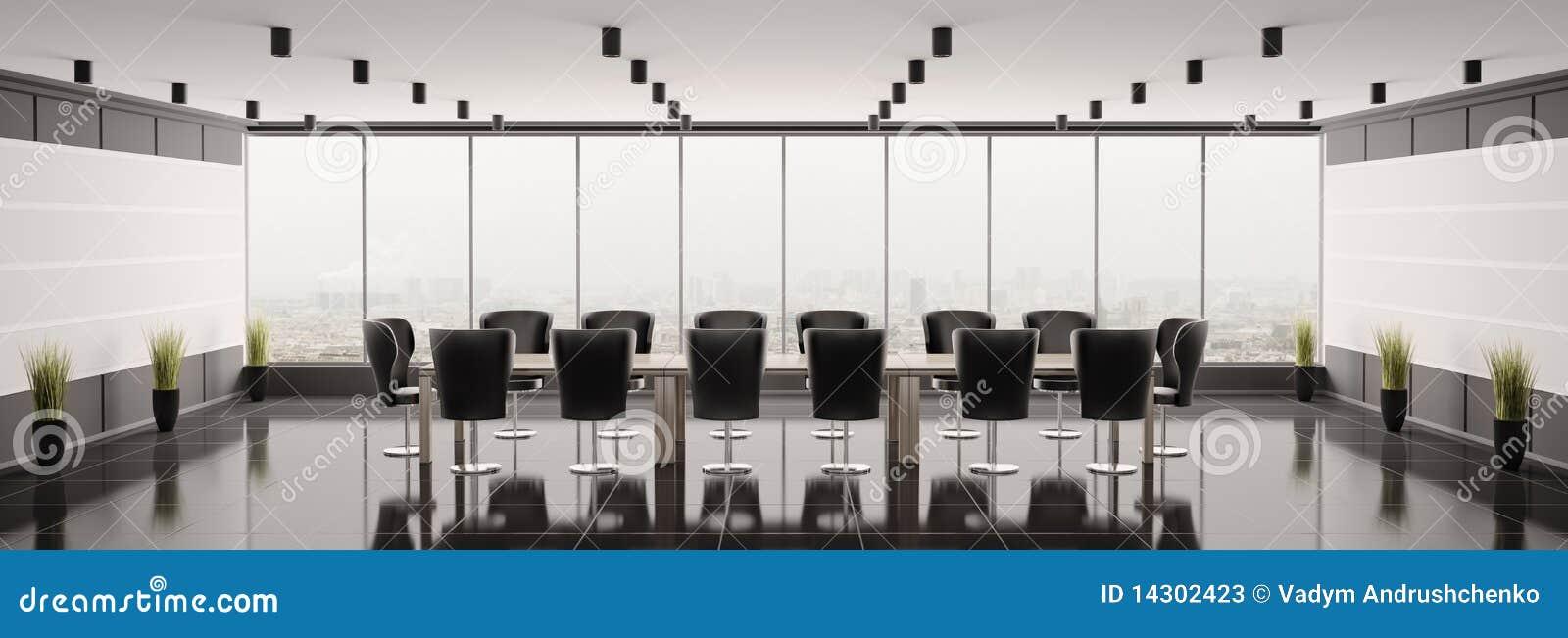 3d会议室现代全景回报